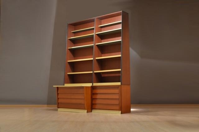 Grand meuble de design industriel biblioth que armoire m tal bois - Armoire style industriel ...