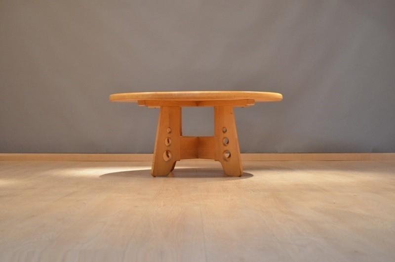 Organic shaped danish massive oak wood coffee table storanza - Organic wood coffee table ...