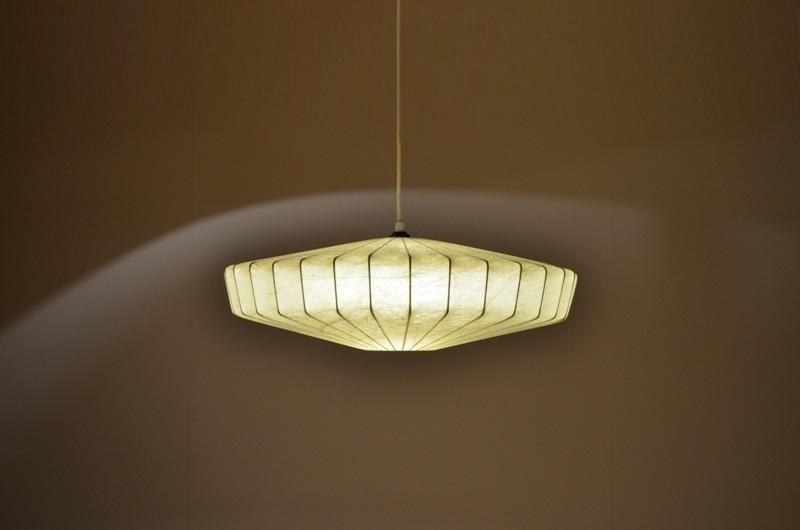 ancienne lampe supension italienne par castiglioni cocoon storanza. Black Bedroom Furniture Sets. Home Design Ideas