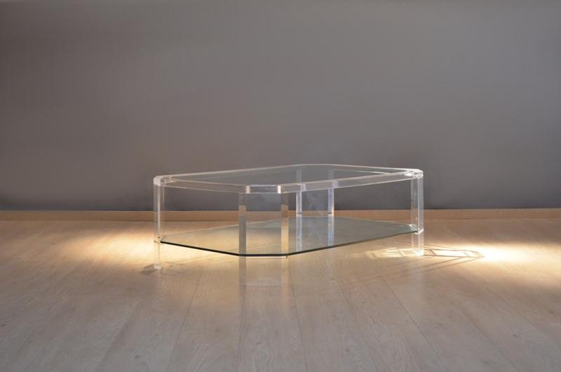 Belle grande table plexi verre storanza - Grande table en verre ...